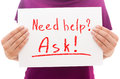 Need help? Ask! Royalty Free Stock Photo
