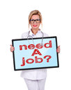Need a job doctor and digital tablet with Royalty Free Stock Photography