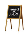 Need a job drawing on chalkboard Royalty Free Stock Images