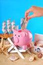 Need money for summer holidays Royalty Free Stock Photo