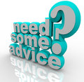 Need Some Advice Help Assistance 3D Words Royalty Free Stock Photo