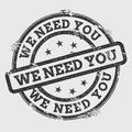 We need you rubber stamp isolated on white.
