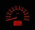 Needle miles of car travel transporter Royalty Free Stock Photos