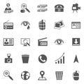 Negócio gray icon set Fotos de Stock