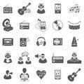 Negócio gray icon set Imagens de Stock Royalty Free