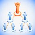 Negócio team network Imagem de Stock