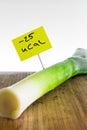 Negative calories food leeks Royalty Free Stock Photo