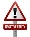 Negative equity sign illustration Stock Images