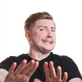Negative human emotion, man expressing disgust Royalty Free Stock Photo