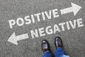 Negative positive thinking good bad thoughts attitude business c Royalty Free Stock Photo