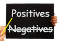 Negatives Positives Board Stock Photos