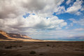 Negev desert israel landscape close to the dead sea Royalty Free Stock Photos