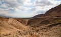 Negev desert israel landscape close to the dead sea Stock Images