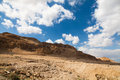 Negev desert israel landscape close to the dead sea Stock Photos