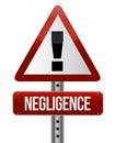 Negligence sign Royalty Free Stock Photo