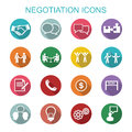 Negotiation icons flat vector symbols Stock Images