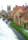 Neige couverte de helmsley Photos stock