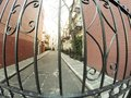 Neighborhood fence a in a new york Royalty Free Stock Images