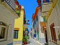 Neighborhood in ischia colorful campania italy Royalty Free Stock Photo