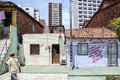 Neighborhood poor and neglected community of the city center that will be expropriated removed because of the world cup fortaleza Royalty Free Stock Photo