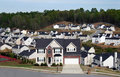 Neighborhood or subdivision Royalty Free Stock Photos