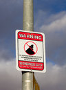 Neighborhood watch sign salinas ca usa january warning featuring likeness of boris the burglar in an american city Stock Photography