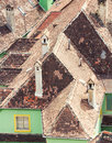Neighbouring rooftops in a small village from romania Royalty Free Stock Photo