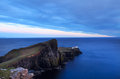 Neist lighthouse on the island of skye in twilight scotland uk Stock Photography