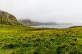 Neist point cliffs scotland foggy isle of skye Stock Image