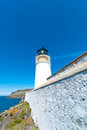 Neist point lighthouse at the isle of skye scotland Stock Photos