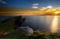 Neist point lighthouse scotland uk Royalty Free Stock Images