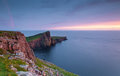 Neist point the world famous during a stormy evening Royalty Free Stock Images