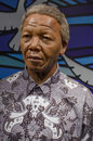 Nelson mandela in the famous wax museum madame tussauds london england Royalty Free Stock Image