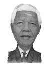 Nelson mandela portrait sketch for editorial use Royalty Free Stock Photo