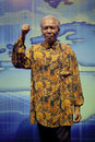 Nelson rolihlahla mandela's wax figure in dalian golden pebble beach museum Royalty Free Stock Photos