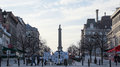 Nelson's Column in Montreal Canada, a monument erected in 1809 at Place Jacques-Cartier Royalty Free Stock Photo