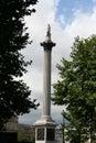 Nelson's column Trafalgar Square Royalty Free Stock Photo