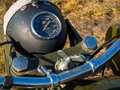 Headlight with motorcycle controls BMW R75 Royalty Free Stock Photo