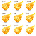 Nem coin symbol, icon, sign, emblem. Vector illustration.