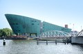 Nemo science center amsterdam is a in netherlands the building is designed by renzo piano Royalty Free Stock Photography