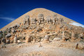 Nemrut dagi summit historical place on mountain turkey Stock Photos