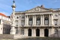 Neo classical facade. City Hall. Lisbon. Portugal Royalty Free Stock Photo