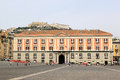 The neo classical palazzo salerno at piazza del plebiscito in the italian city of naples replaced a former convent that was Stock Photos