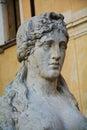 Neoclassic architecture and sculture, detail, in Conegliano Veneto, Treviso, Italy Royalty Free Stock Photo