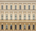 Neoclassic architecture wall with windows vintage background Royalty Free Stock Photo