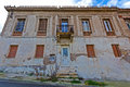 Neoclassical building view of an old wrecked in greece Royalty Free Stock Photo