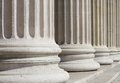 Neoclassical columns closeup Royalty Free Stock Photo