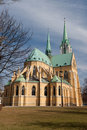 Neogothic Cathedral in Lodz Stock Photo