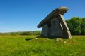 Neolithic burial chamber this well preserved and impressive dolmen stands metres ft high there are five standing stones surmounted Stock Photos