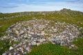 Neolithic labyrinth located at Oleshin Island, Kuzova Archipelago, White Sea, Russia. Royalty Free Stock Photo